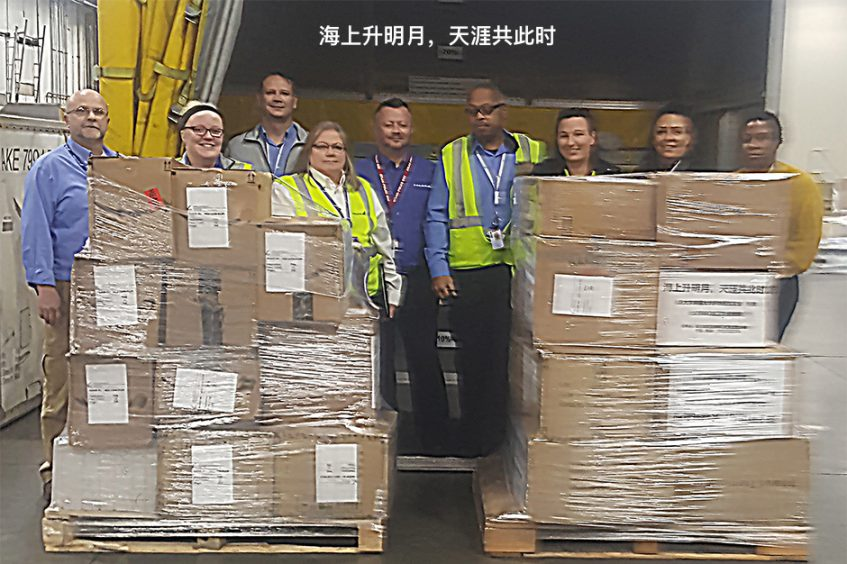 Donation to China